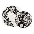 222 Fifth Damask - Black and White Dinnerware