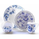 222 Fifth Ionia Dinnerware Set - Blue and White Dinnerware
