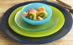 Colorful Glass Dinnerware by Viva Terra