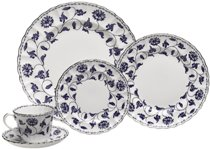 Fine China Dinnerware Sets - Spode Blue Colonel Platinum