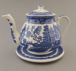 Blue Willow Teapot - Blue Willow China