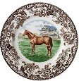 Spode Woodland Horse Dinnerware - Thoroughbred Horse