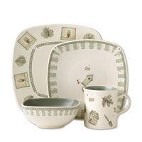 Pfaltzgraff Naturewood - Square Dinnerware Sets