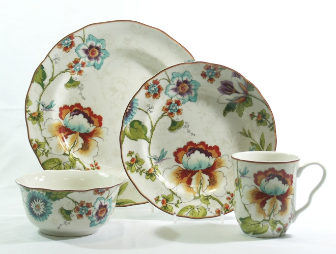 222 Fifth Dinnerware  sc 1 st  Castrophotos & Eliza Teal Dinnerware - Castrophotos