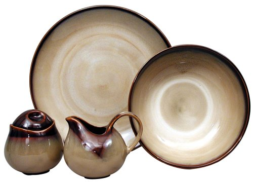 The earthy shades of colors seem to fade in from dark brown to tan for a two-tone appearance that is perfect for complementing rustic or country décor.  sc 1 st  Dinnerware Shopping Guide & Sango Nova Brown Dinnerware
